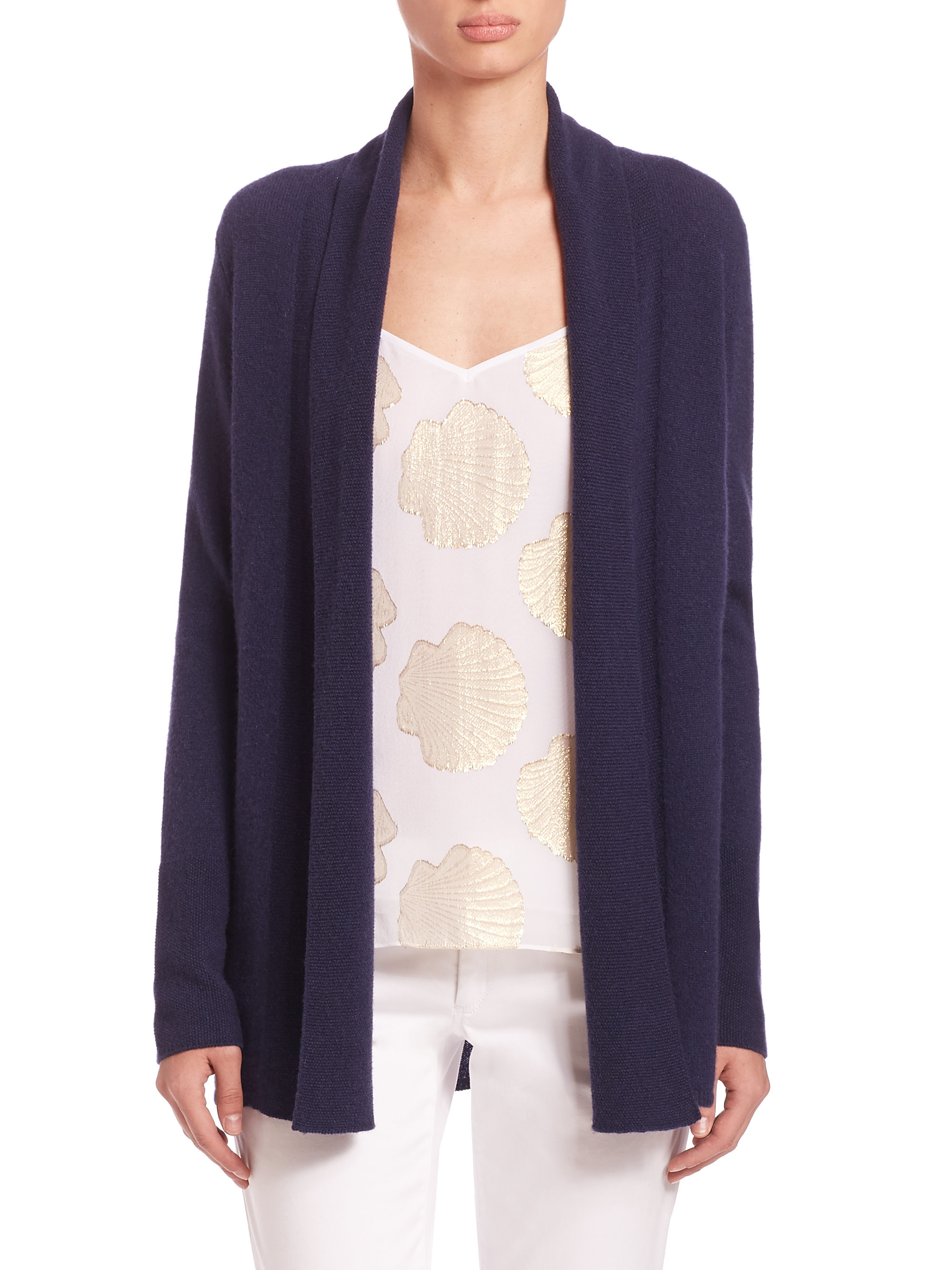 Lilly pulitzer Caroline Cashmere Cardigan in Blue | Lyst