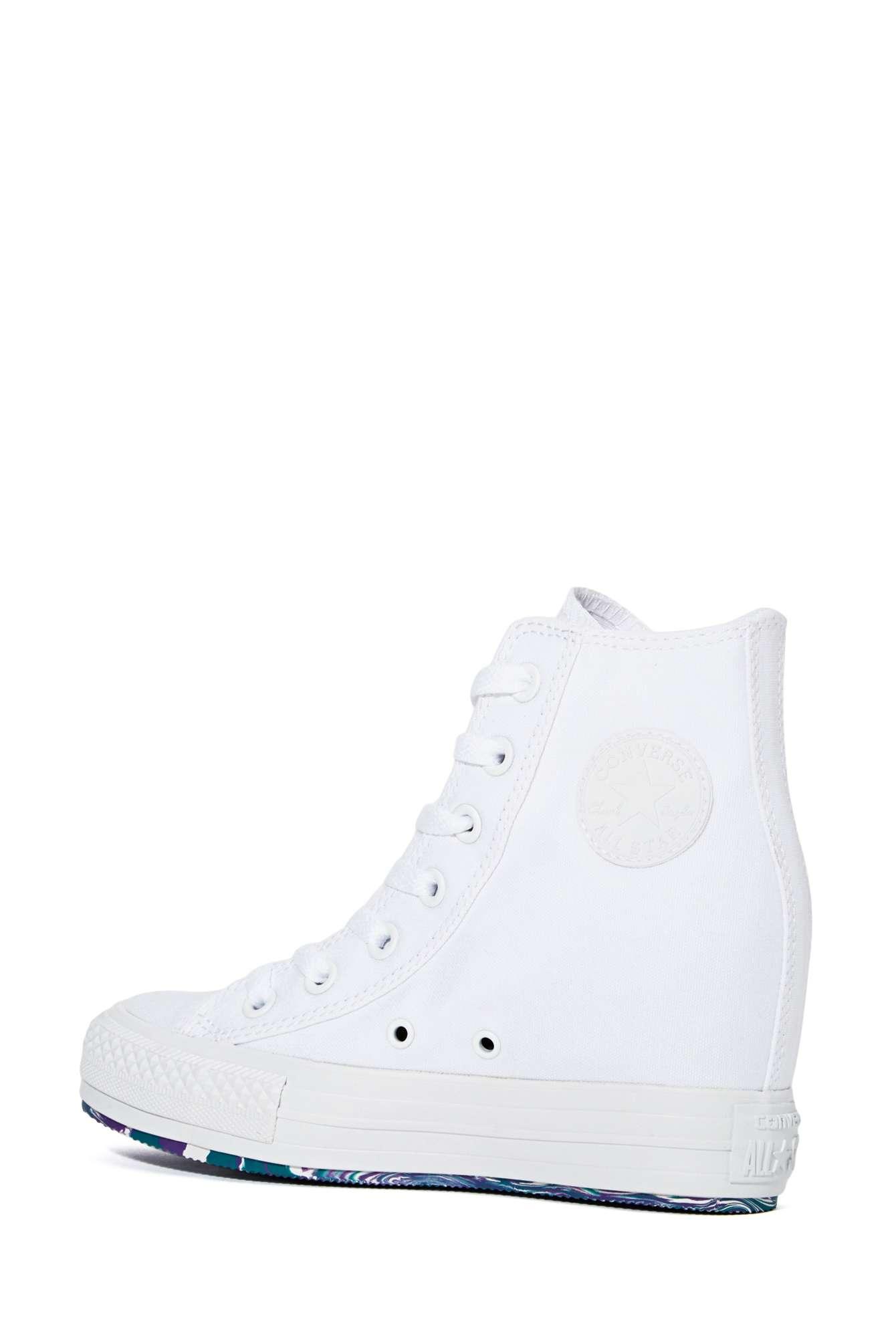 Star Sneaker Gal Nasty White All Lyst High Platform Converse Top IAUq1w 214e07e02