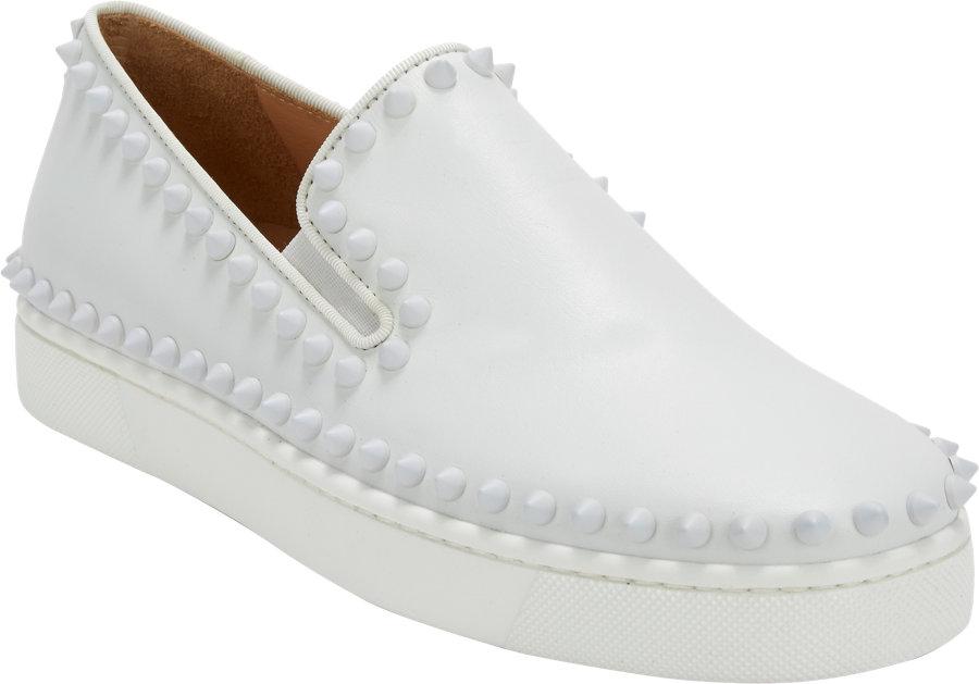 spike sneaker christian louboutin - christian louboutin spike embellished flats, cheap mens christian ...