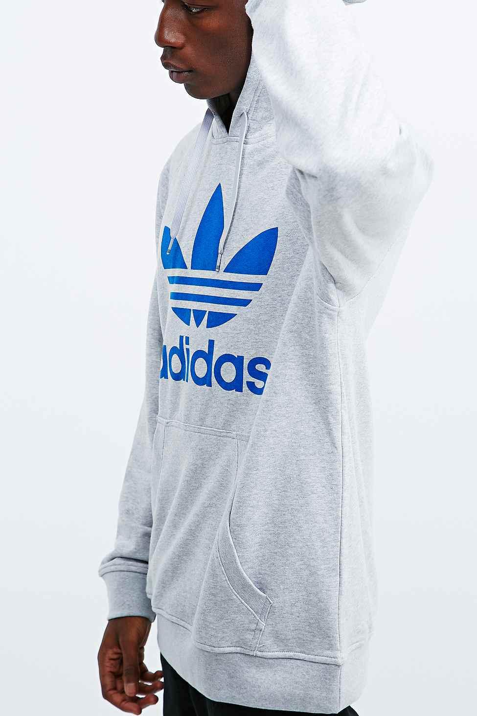 Adidas Originals Trefoil Hoodie en gris en gris para hombres Lyst