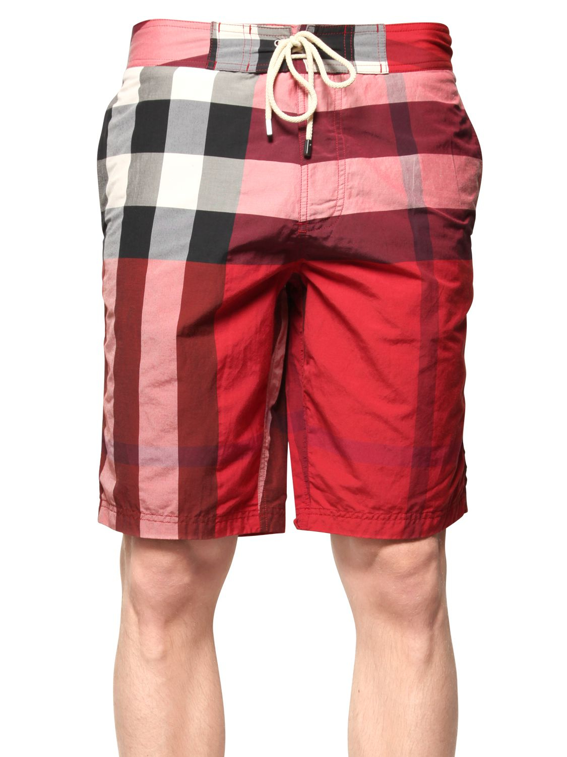 Burberry brit Macro Check Cotton Blend Swimming Shorts in