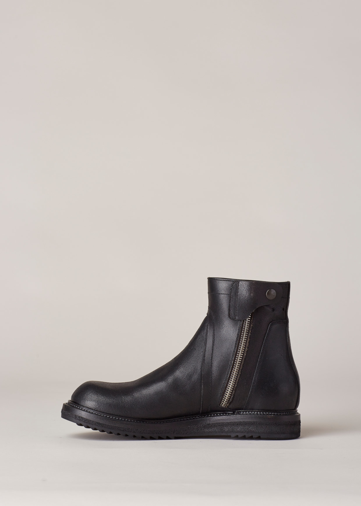 Rick Owens Round-Toe Leather Ankle Boots free shipping latest GA4PPMzaL