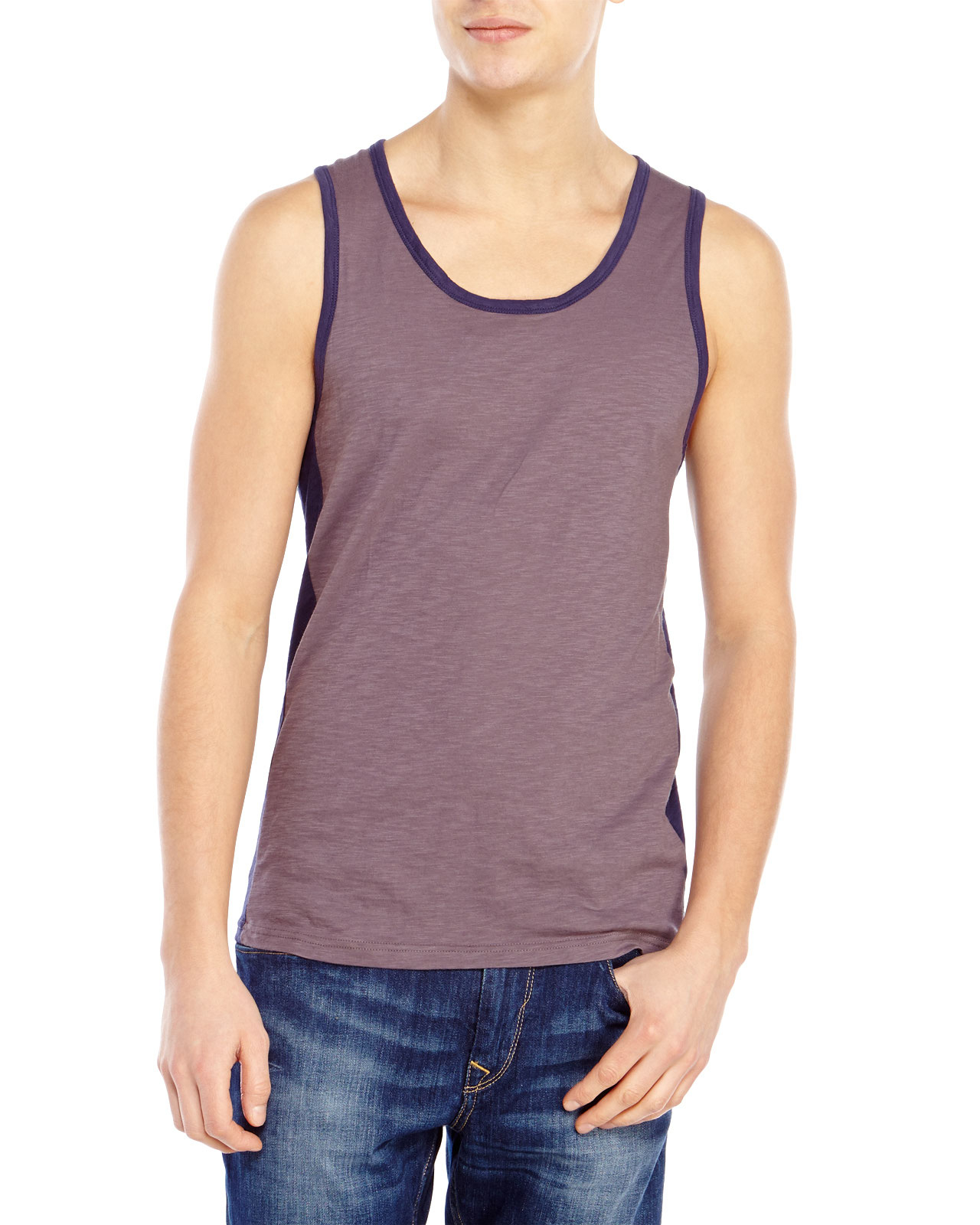 e15cad6426af1 Lyst - Shades of Grey by Micah Cohen Color Block Tank in Gray for Men
