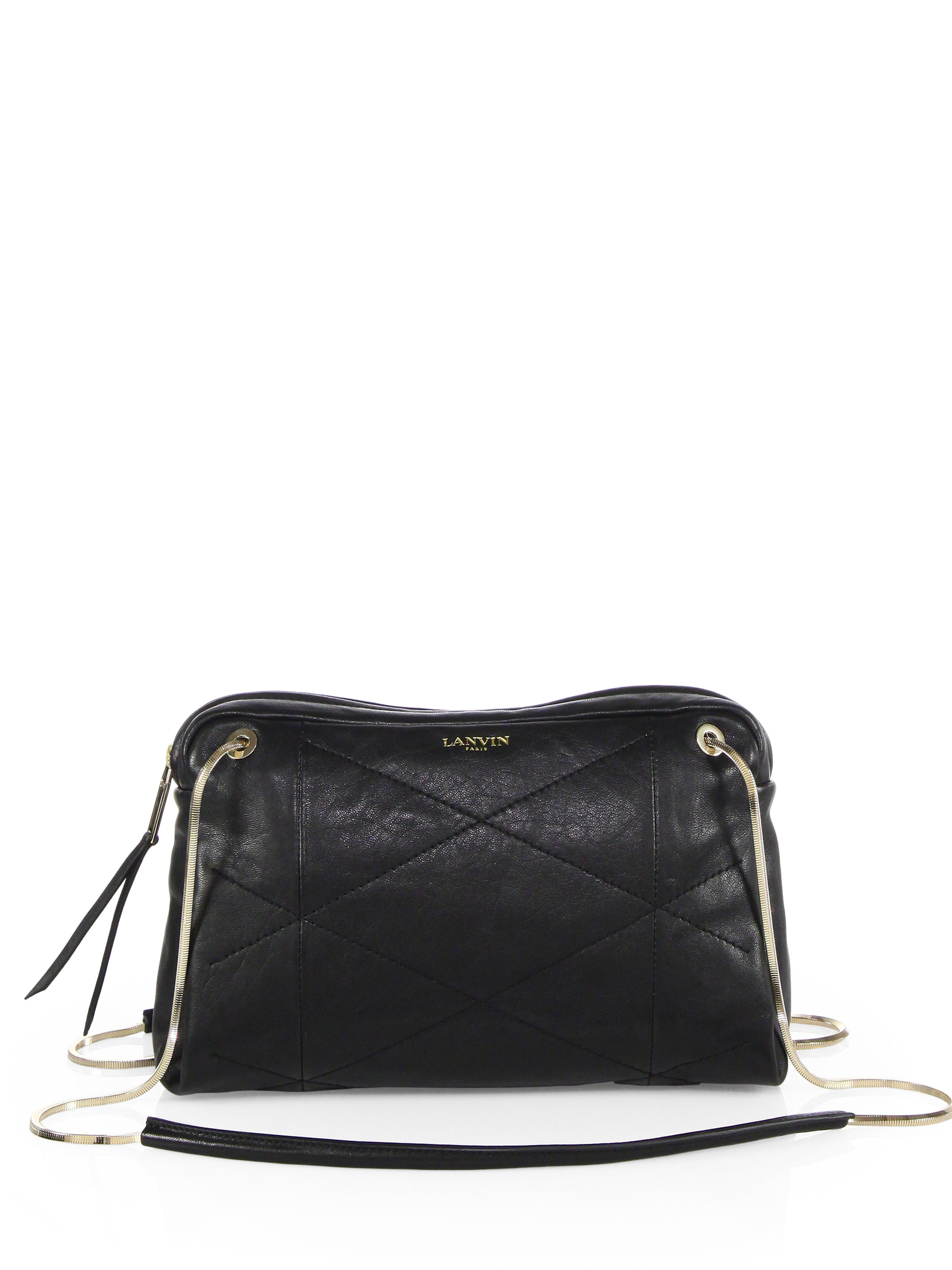 Lyst Lanvin Sugar Small Quilted Leather Shoulder Bag In