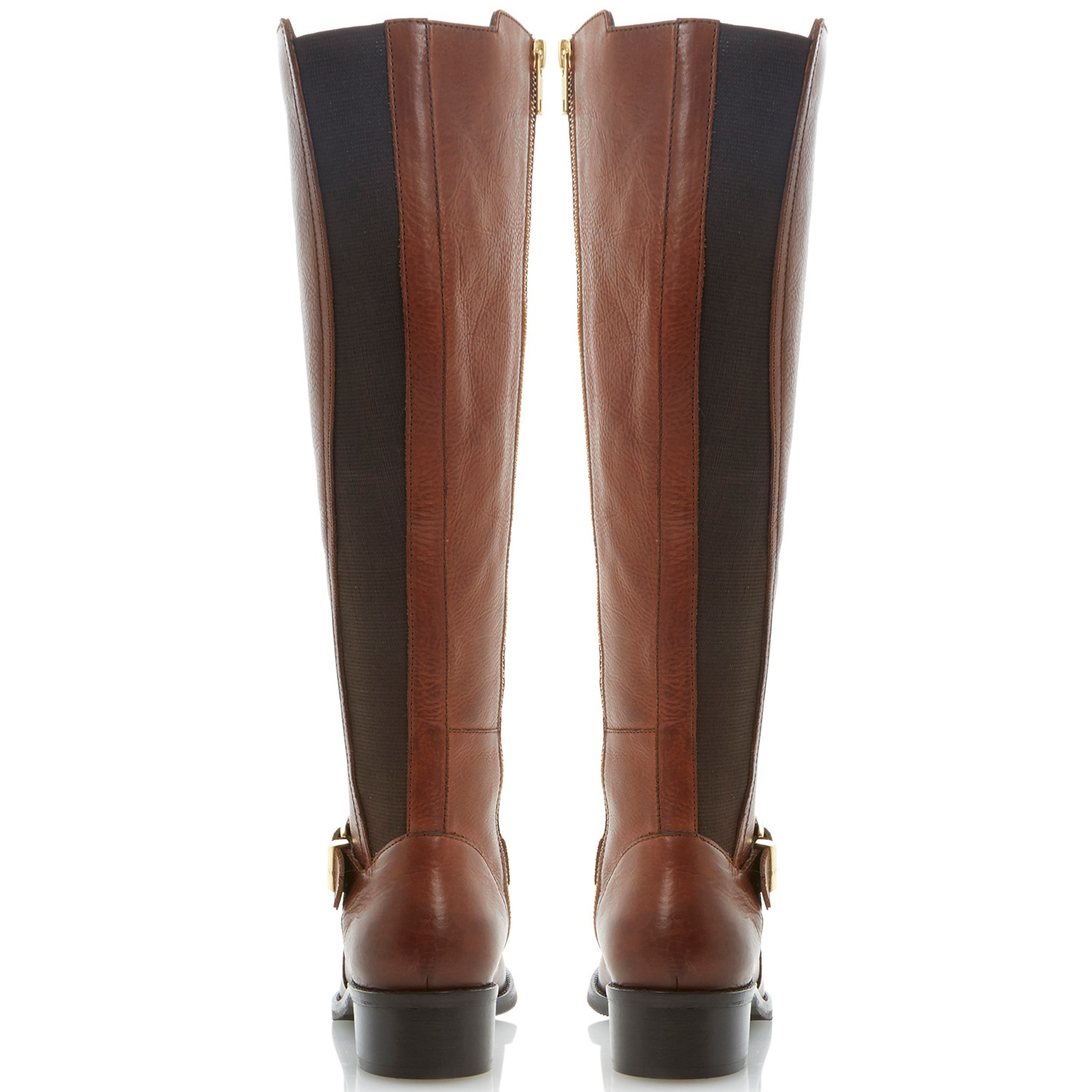 dune tippler leather knee high boots in brown lyst