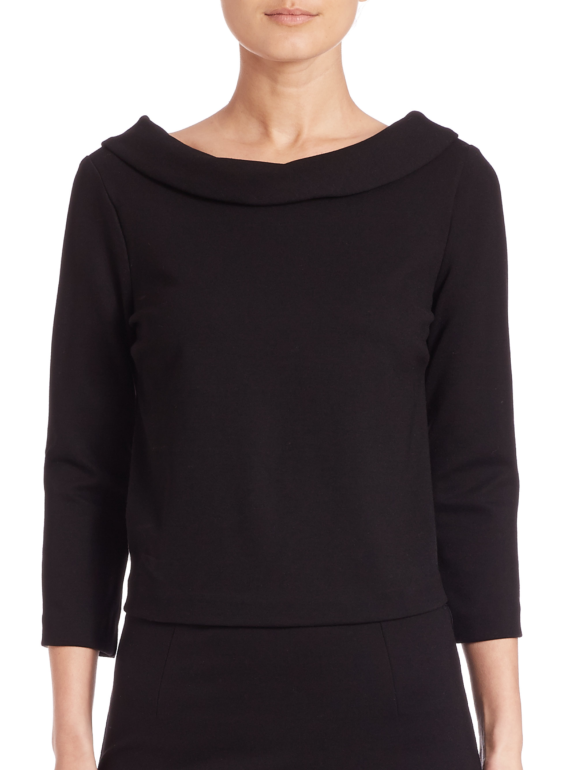 A feminine touch goes a long way in projecting your unique appeal, as evidenced by the white lace collar of this black top! This knit number from our ModCloth namesake label goes beyond aesthetic expectations with the addition of a keyhole opposite its neckline and fluttery short sleeves.