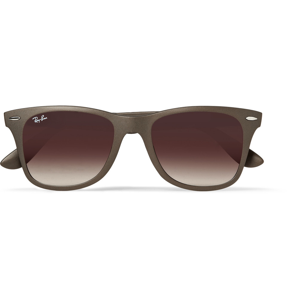 Ray Ban Wayfarer Liteforce Acetate Sunglasses In Brown For
