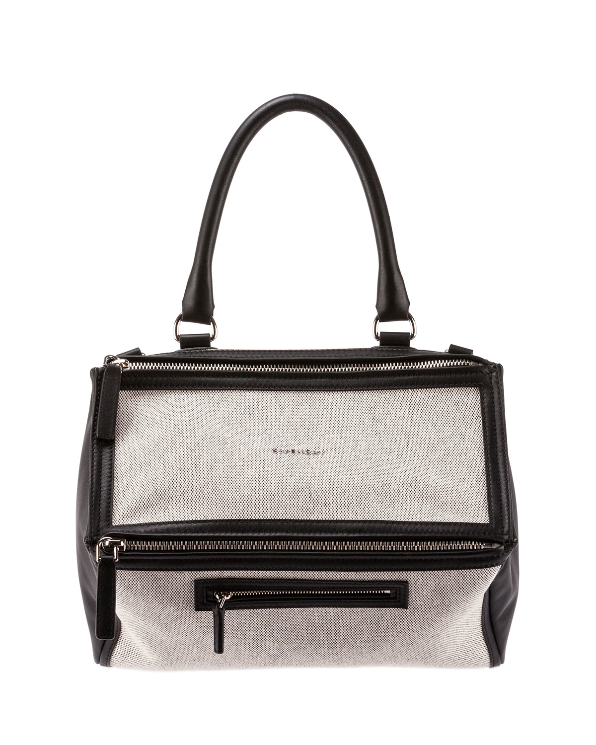 ee8d973f48 Givenchy Pandora Medium Canvas   Leather Bag in Black - Lyst