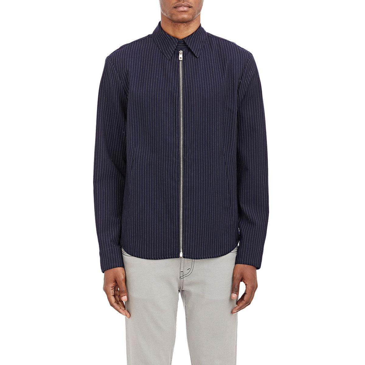 Rag bone men 39 s maddox shirt jacket in blue for men lyst for Rag and bone t shirts