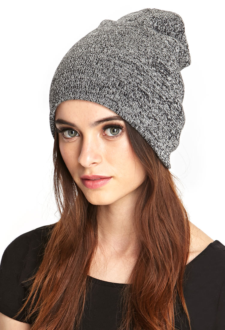 Lyst - Forever 21 Heathered Ribbed Knit Beanie in Gray 994e03d2b23