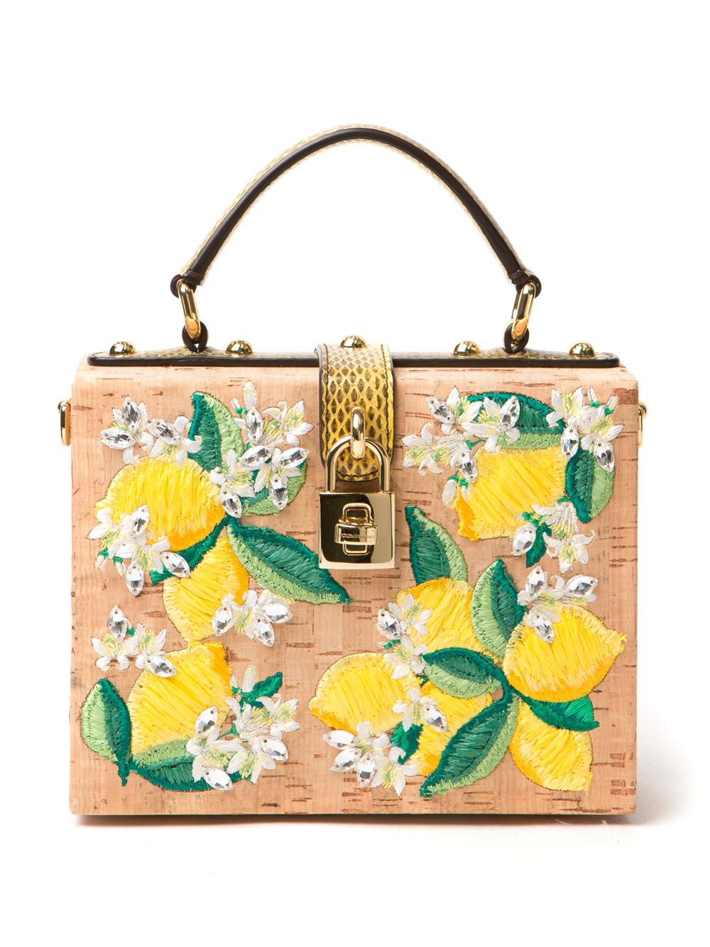 Lyst - Dolce   Gabbana Lemon Cork Tote in Yellow ae79d68187f07