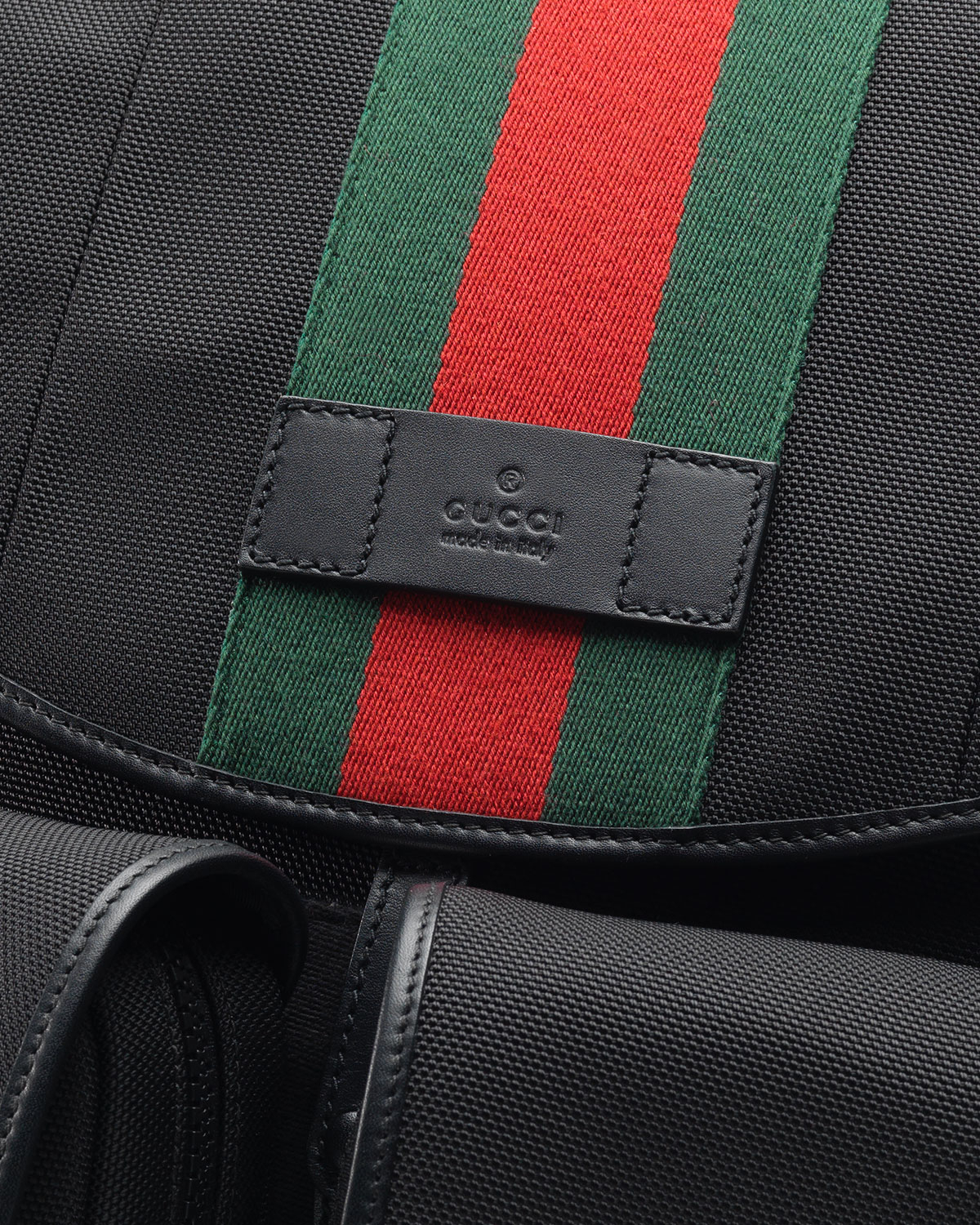 50f30e16117a56 Gucci Web Canvas Backpack Fanny Pack in Black for Men