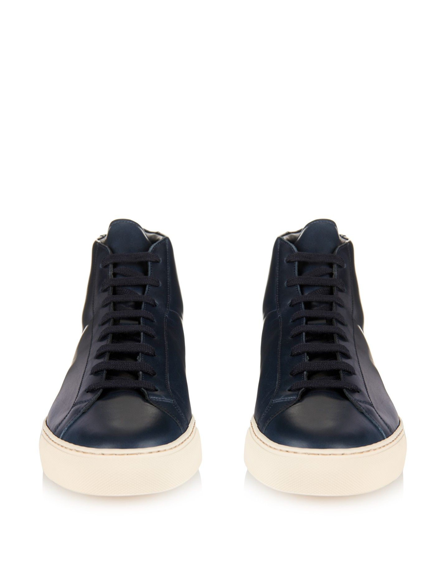 COMMON PROJECTS Leather High Trainers fORPUDuH