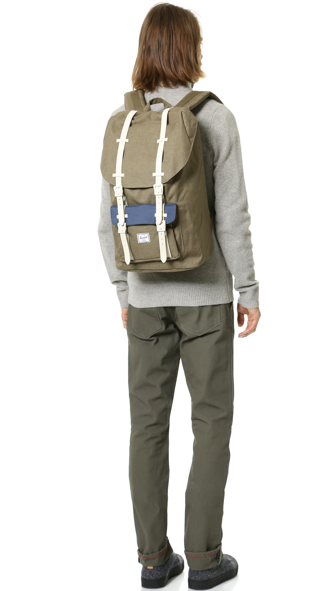 Lyst Herschel Supply Co Little America Backpack In Gray