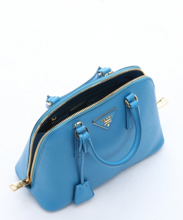 Prada Sky Blue Saffiano Leather Mini \u0026#39;promenade\u0026#39; Convertible ... - prada weekender baltic blue
