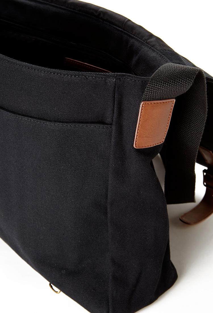 644f2c0299 Lyst - Forever 21 Canvas Messenger Bag in Black for Men