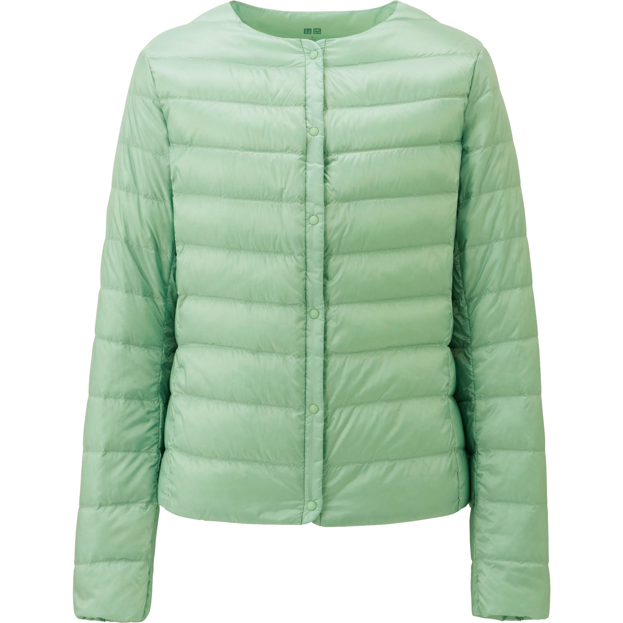 uniqlo women ultra light down compact jacket in green light green. Black Bedroom Furniture Sets. Home Design Ideas