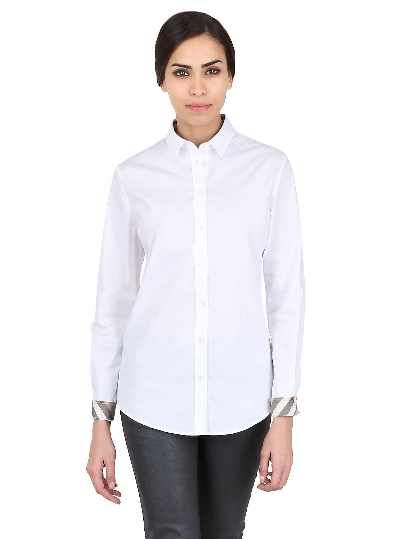 Lyst - Burberry Brit Stretch Cotton Oxford Shirt in White 654c619a2a