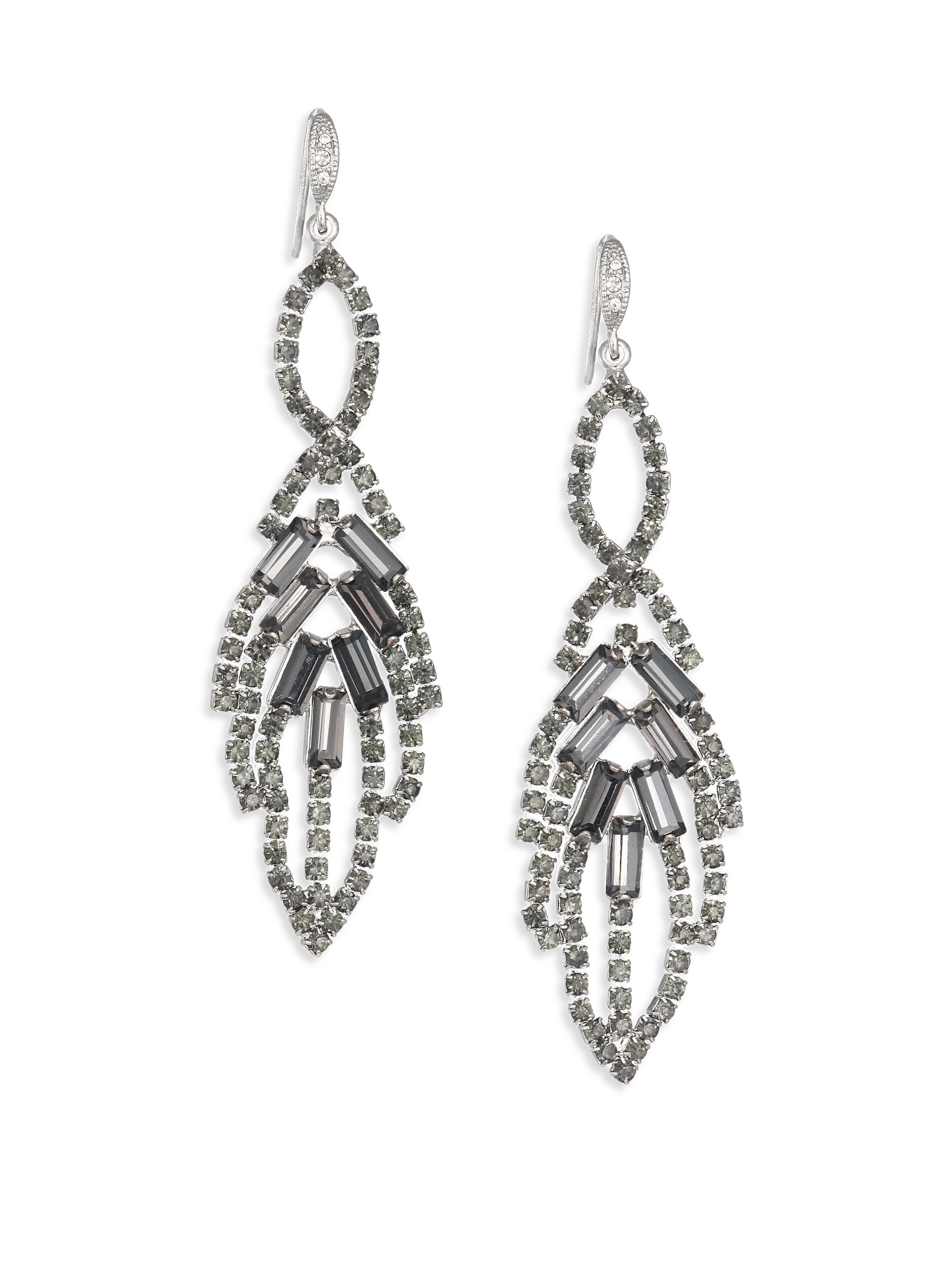 allen jewelry abs by allen schwartz mixers leaf chandelier earrings 4205