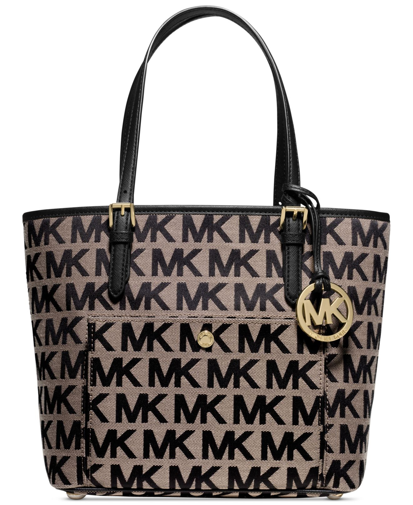 b12e61e6453f ... tote 535d1 71343 switzerland lyst michael kors michael signature jet set  item medium snap 7da27 92930 ...