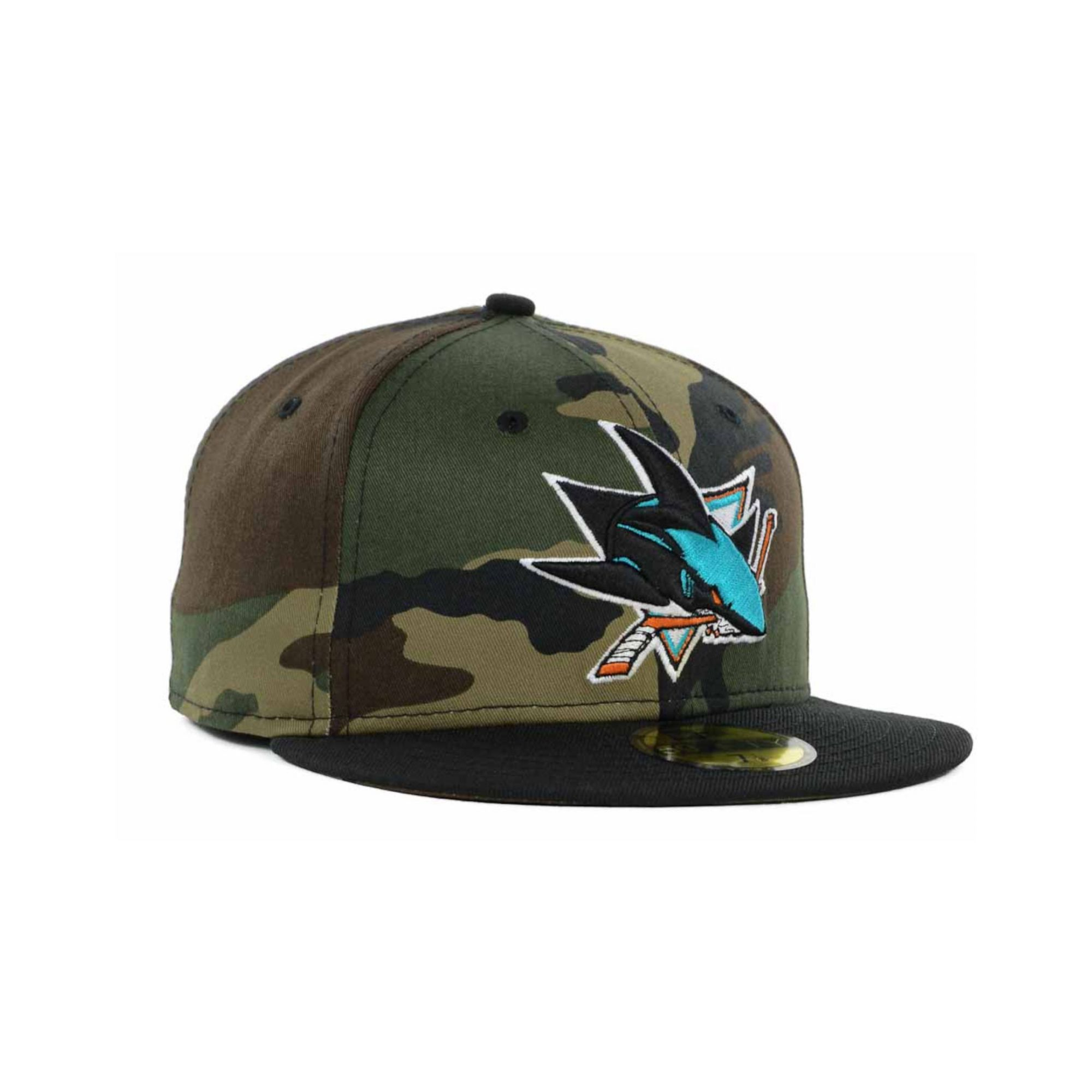 competitive price 5bcc1 9535c ... camo recon trucker adjustable hat 277f9 3266c  uk lyst ktz san jose  sharks nhl woodland tc 59fifty cap in green for men 3aa3c