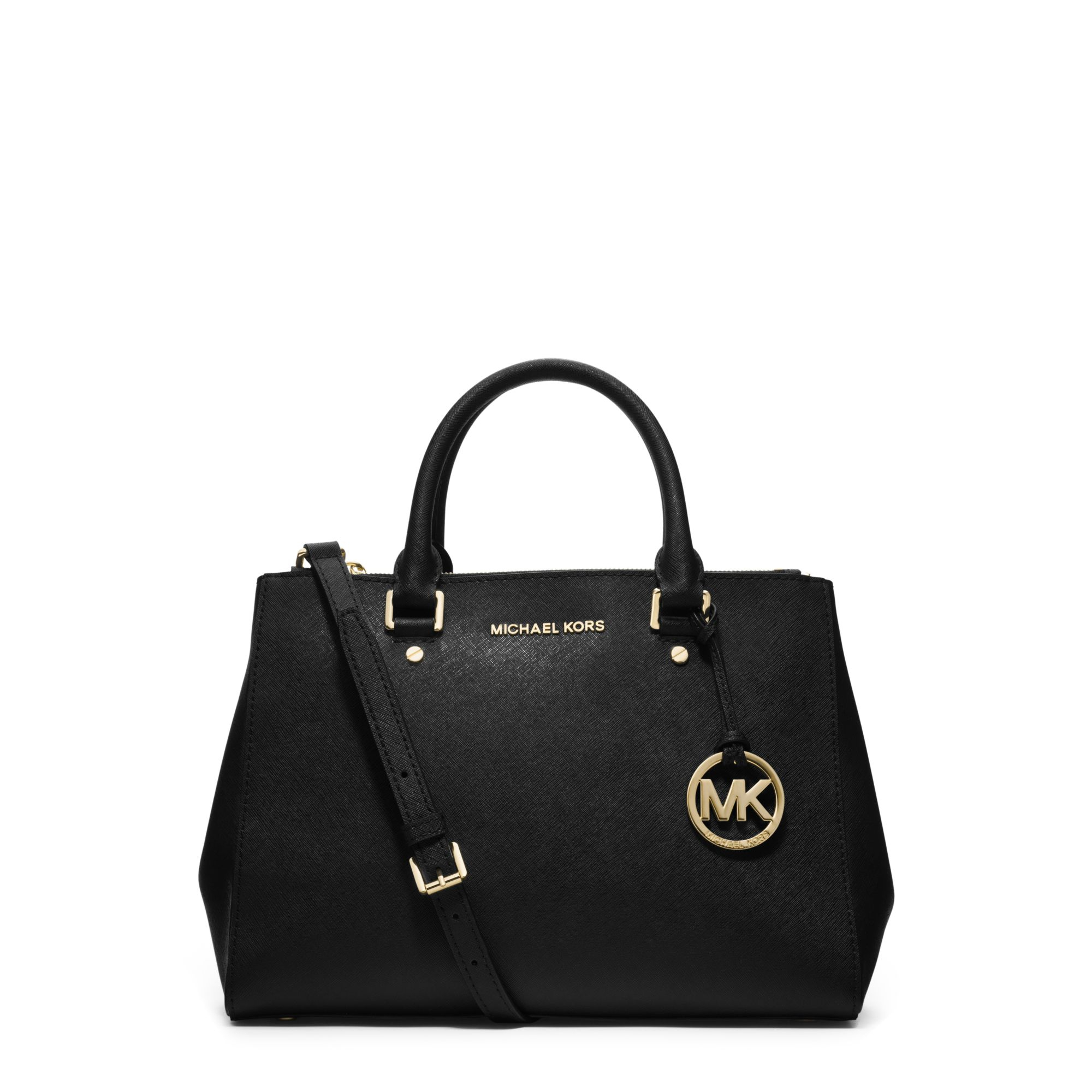 a22cdeb9a5 Womens Michael By Michael Kors Sutton Michael Kors Medium Selma Saffiano  Leather Satchel - Black .