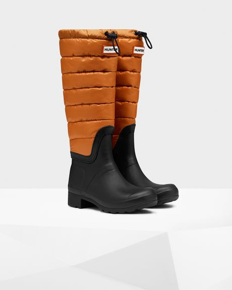 Hunter Women S Original Tall Quilted Leg Rain Boots In