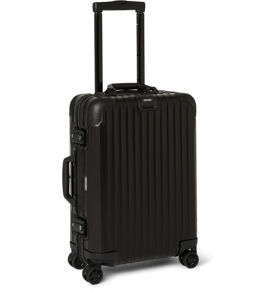 rimowa topas stealth cabin aluminum 55cm carryon case in black for men lyst. Black Bedroom Furniture Sets. Home Design Ideas