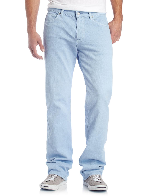 7 for all mankind Standard Light Blue Jeans in Blue for Men | Lyst
