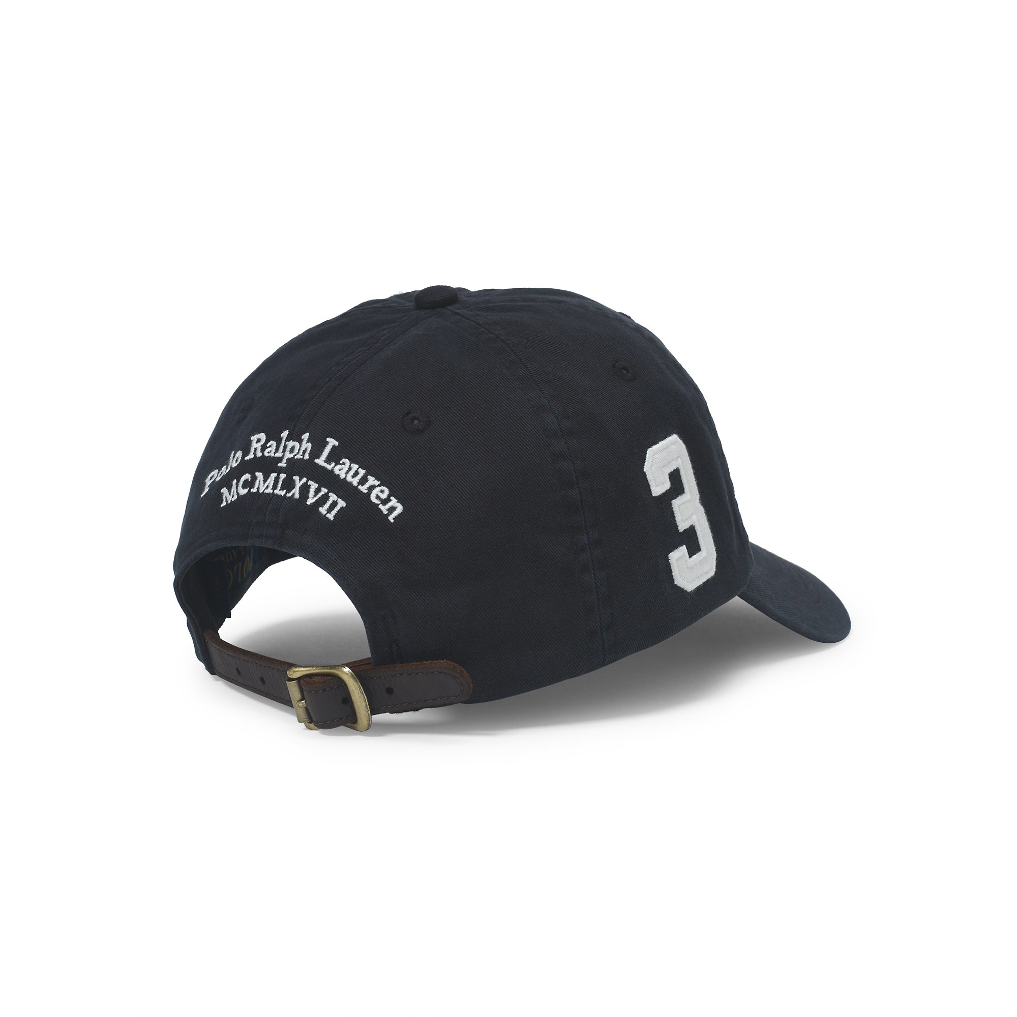 a3a57fafae6 Lyst - Polo Ralph Lauren Big Pony Chino Baseball Cap in Black for Men