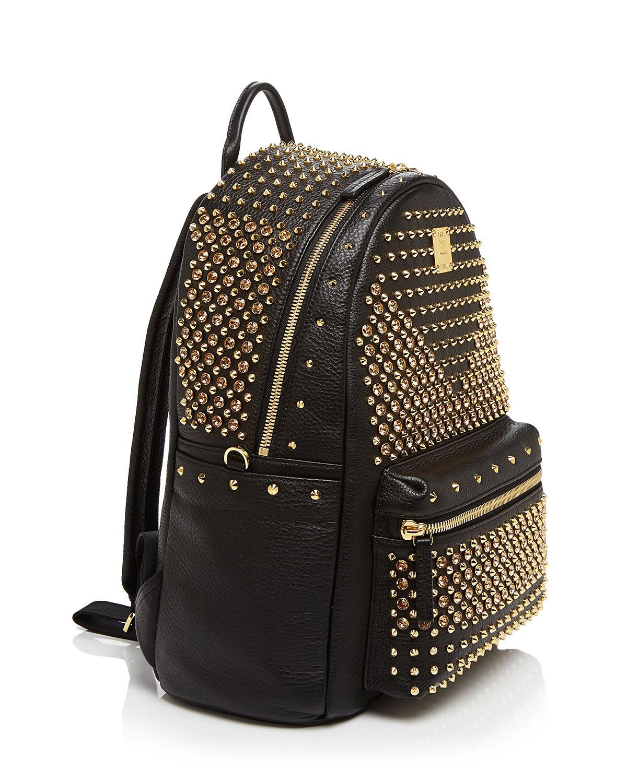 mcm backpack stark special leather stud medium in black lyst. Black Bedroom Furniture Sets. Home Design Ideas