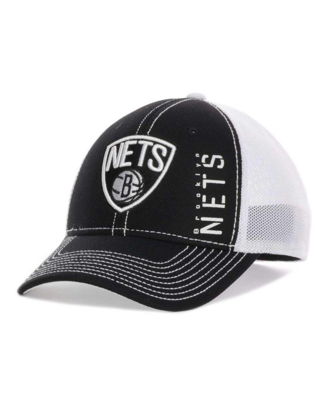 a4d3a17b287 Lyst - adidas Brooklyn Nets Nba Zone Mesh Cap in Black for Men