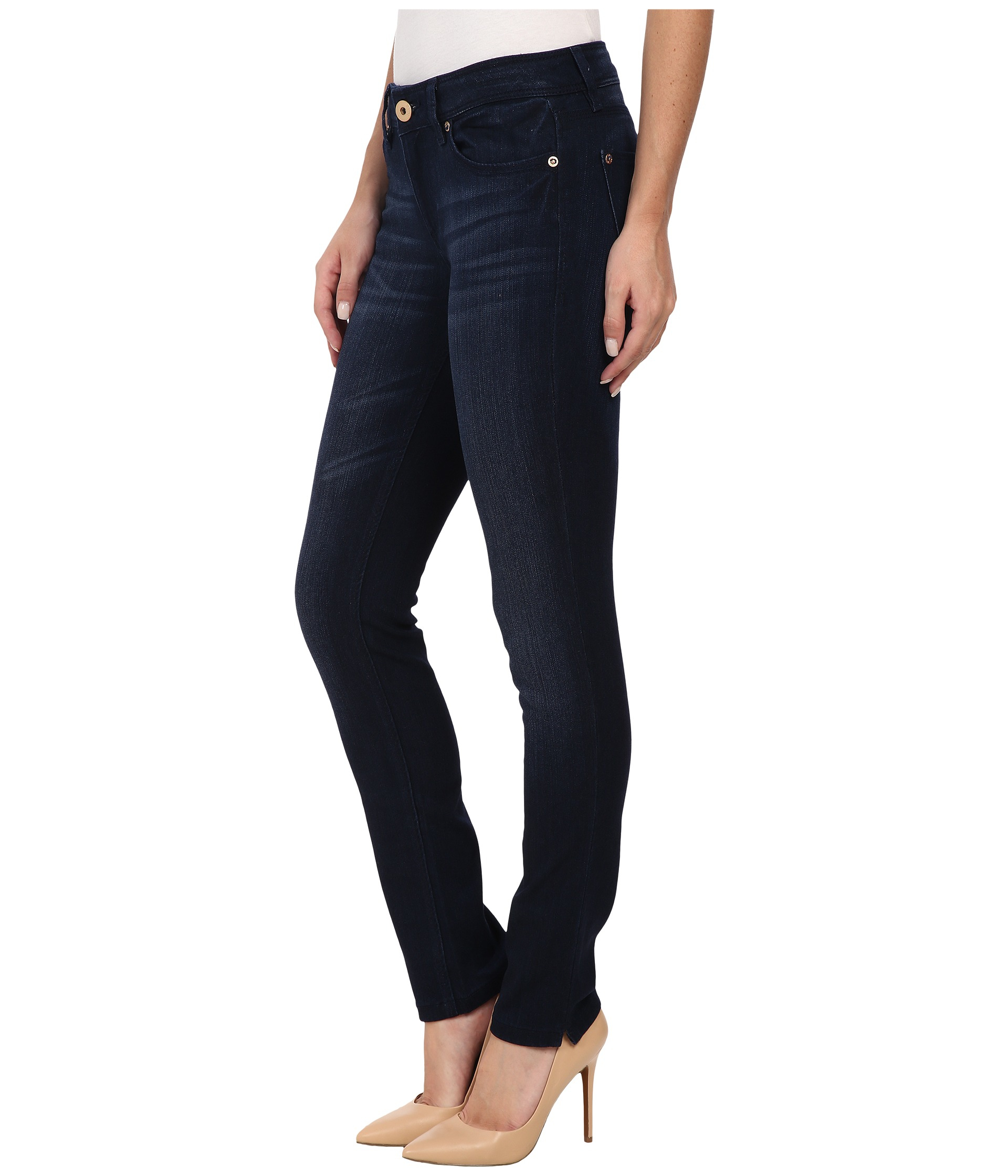 dl1961 angel skinny jeans in berlin in blue berlin lyst. Black Bedroom Furniture Sets. Home Design Ideas