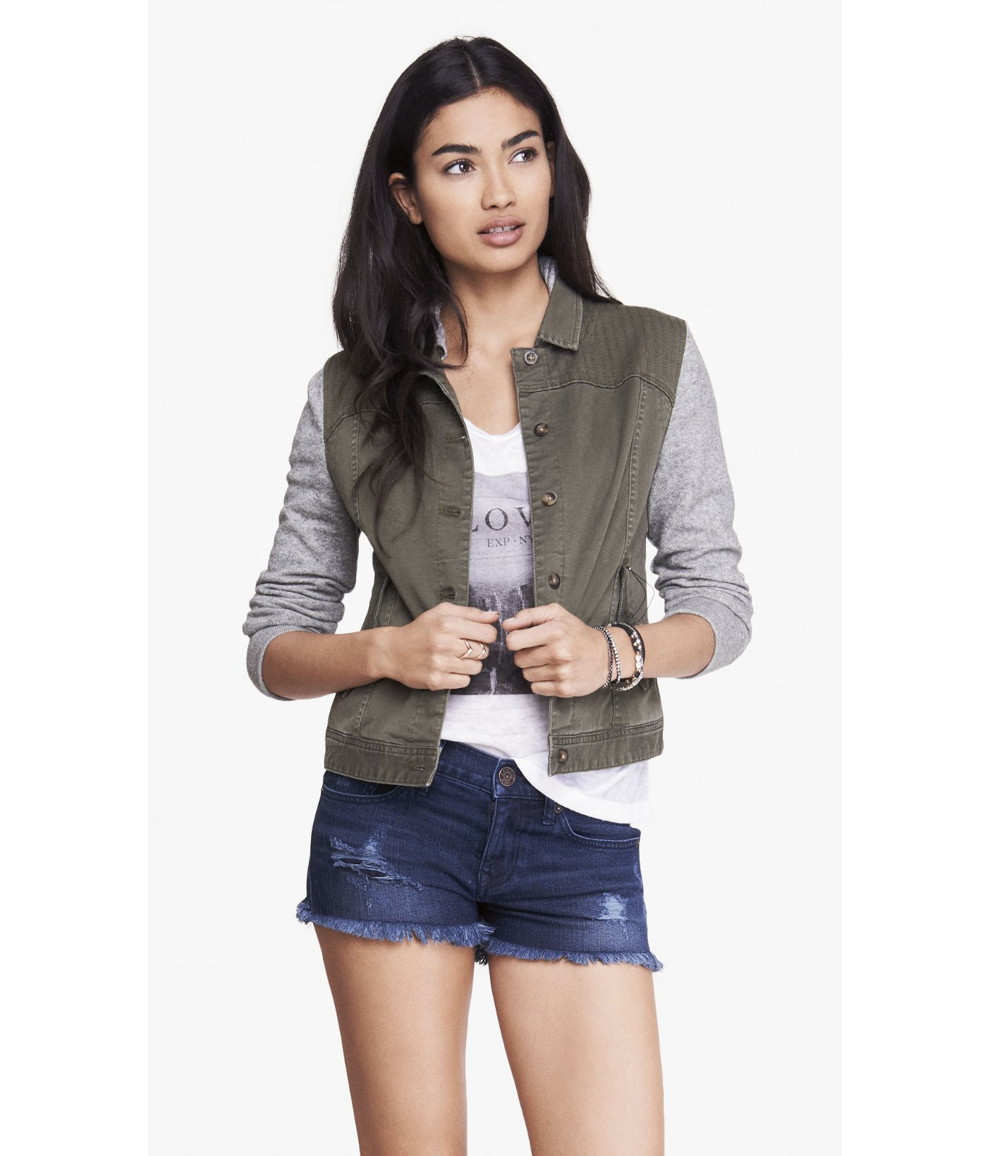 Sweatshirt jean jacket express – Modern fashion jacket photo blog