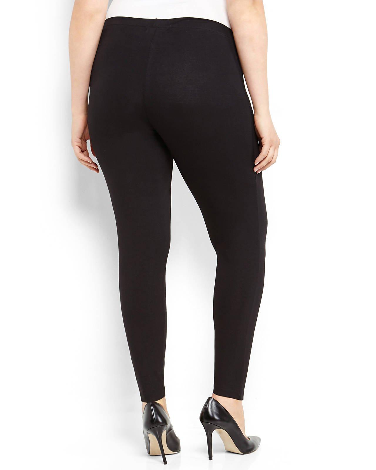 Plus Size Black Leggings - Trendy Clothes