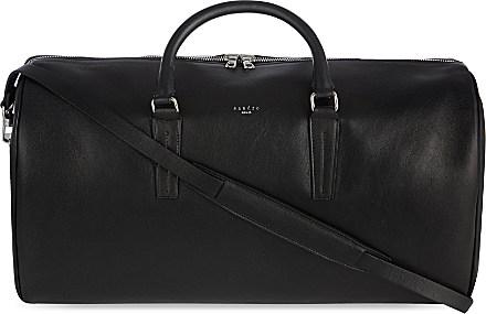 Sandro Leather Weekender Bag - For Men in Black for Men | Lyst