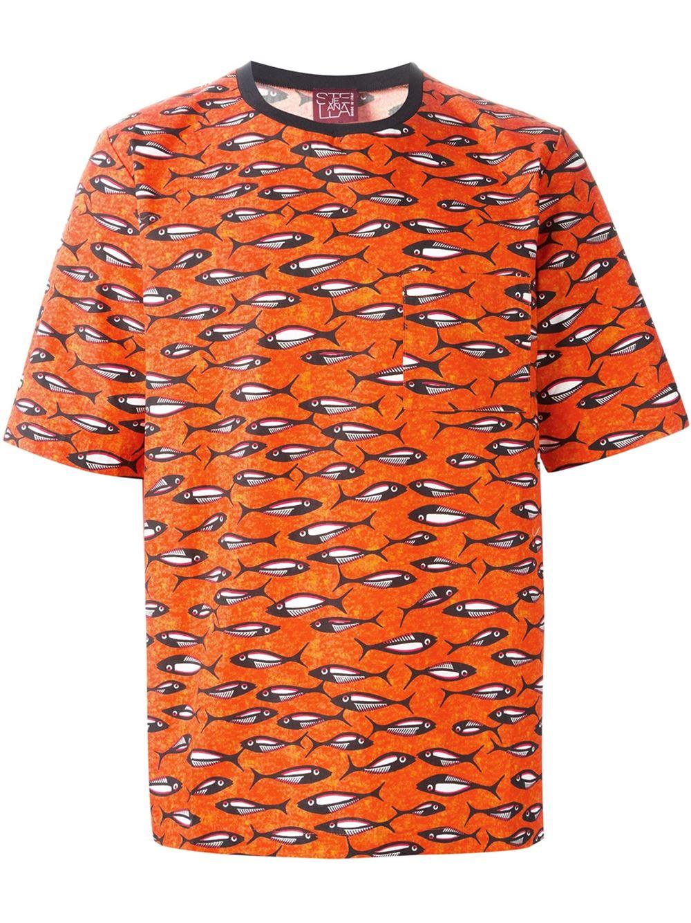 Lyst Stella Jean Fish Print T Shirt For Men