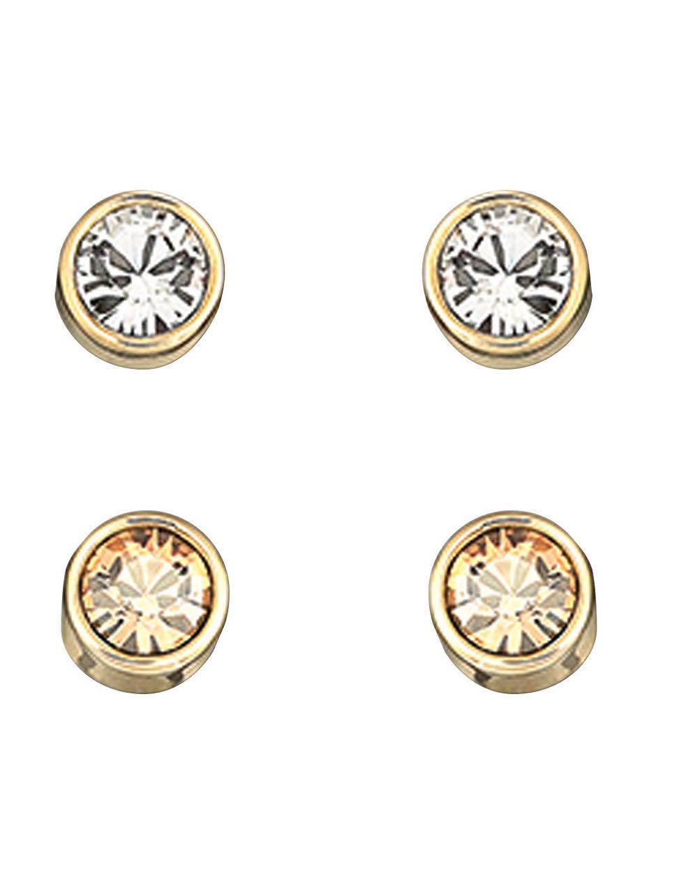 fd1fd1d8b Swarovski Harley Goldtone Crystal Stud Earrings in Metallic - Lyst
