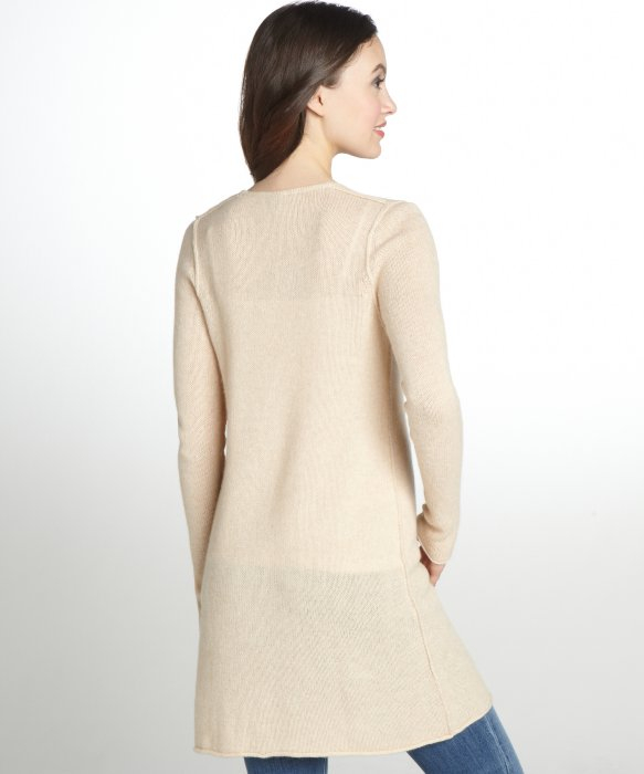 Autumn cashmere Light Tan Cashmere Open Front Duster Cardigan in ...