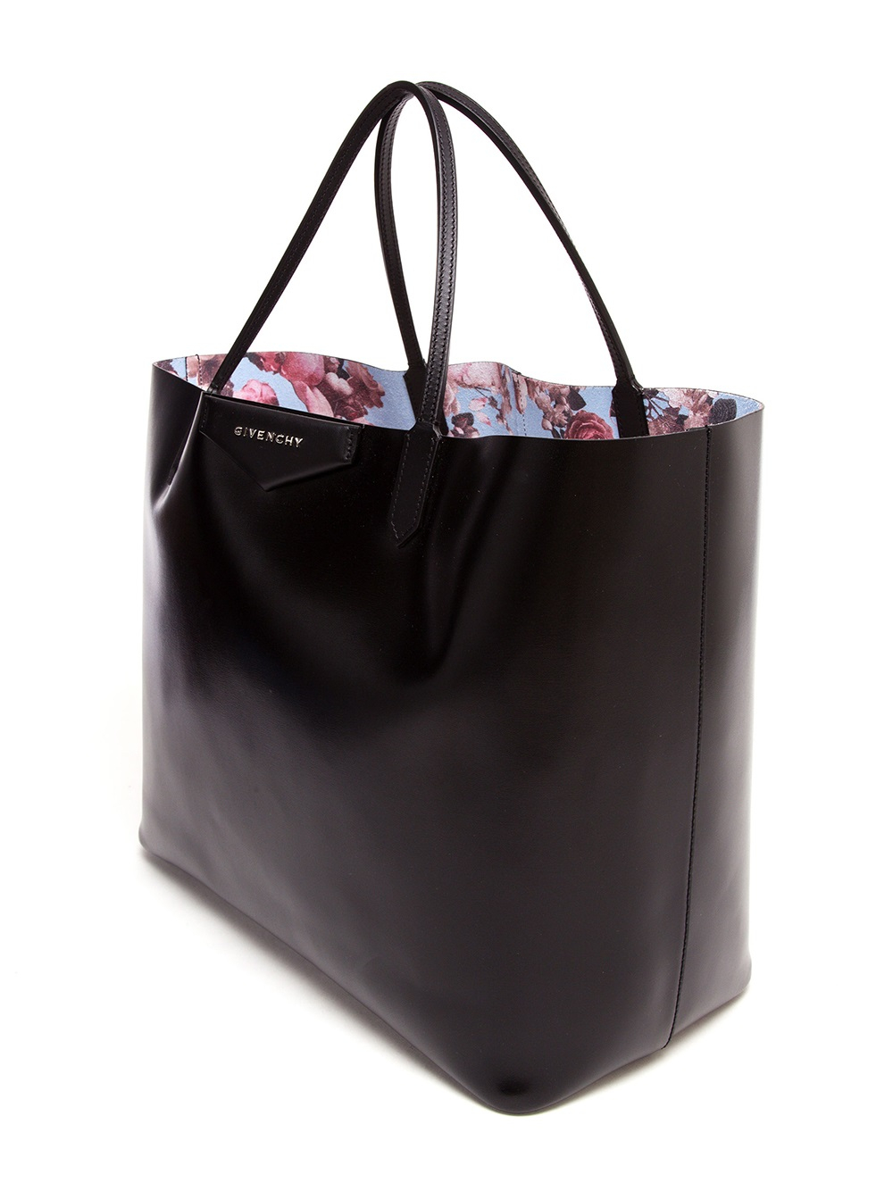 Givenchy Antigona Faux Leather Tote Bag in Black | Lyst