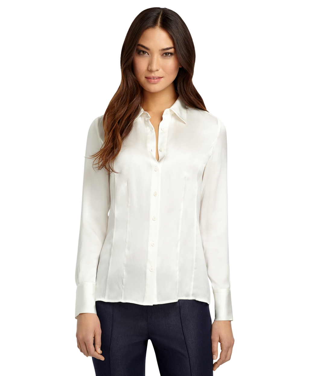 Brooks Brothers White Blouse 59