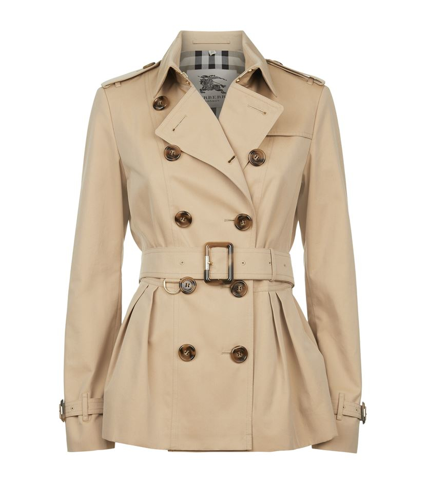 Burberry Edenbridge Short Trench Coat in Natural | Lyst