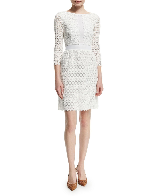 Diane Von Furstenberg Woman Pintucked Georgette And Sateen Dress Coral Size 4 Diane Von F RhLlN