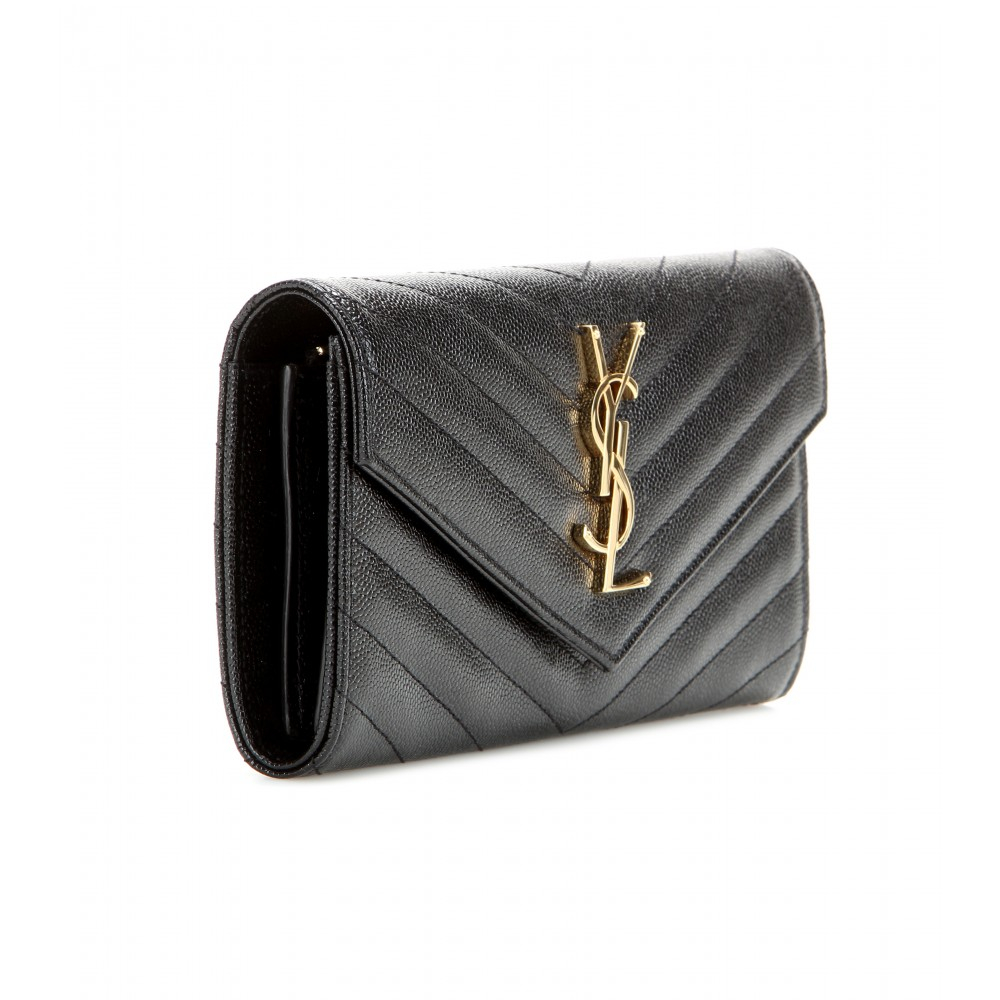 Saint Laurent quilted monogram wallet Free Shipping Discount Sale Store Sale Fashionable Outlet 100% Guaranteed Big Discount ZMMjHHG