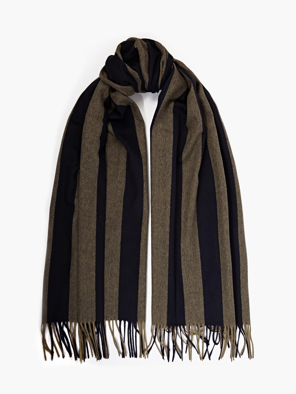acne striped wool canada scarf in black for lyst