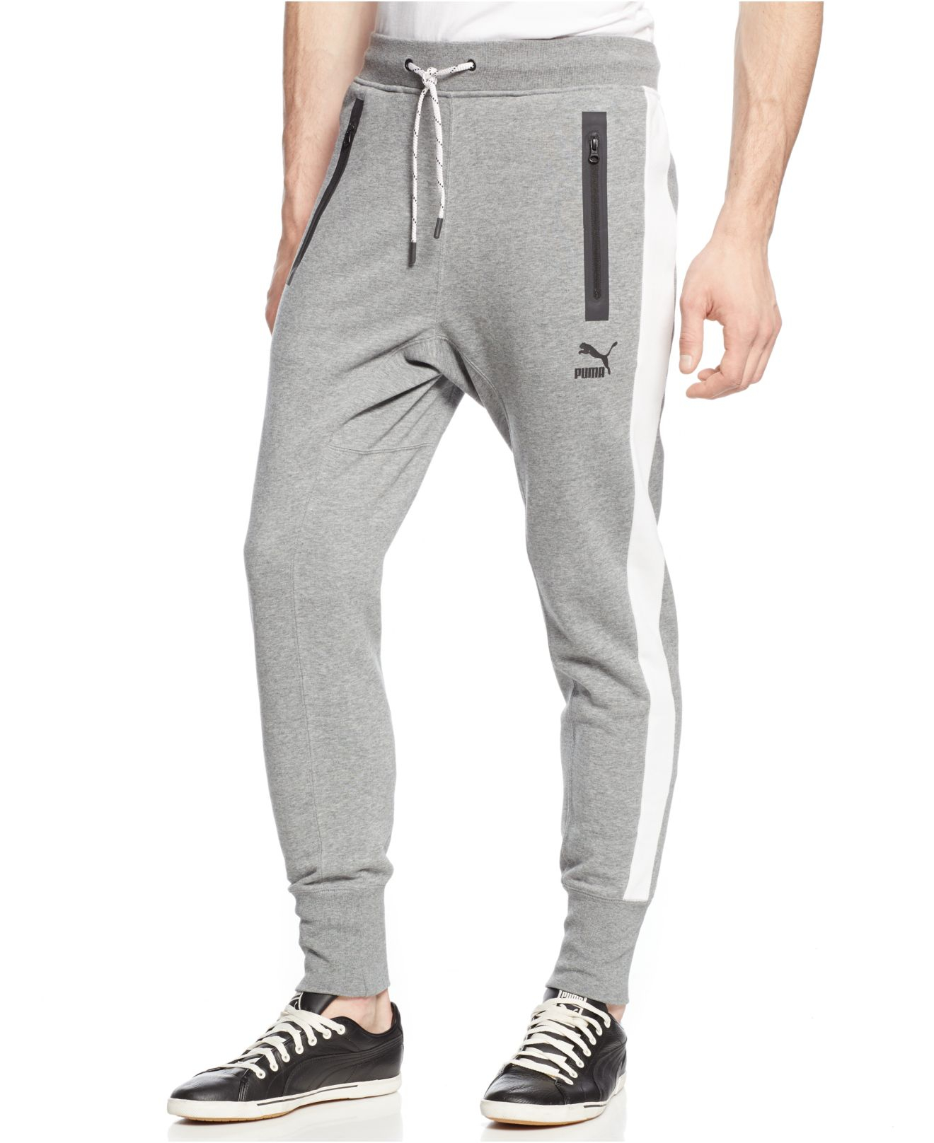 b5d3eae0a806 Lyst - PUMA French Terry Joggers in Gray for Men