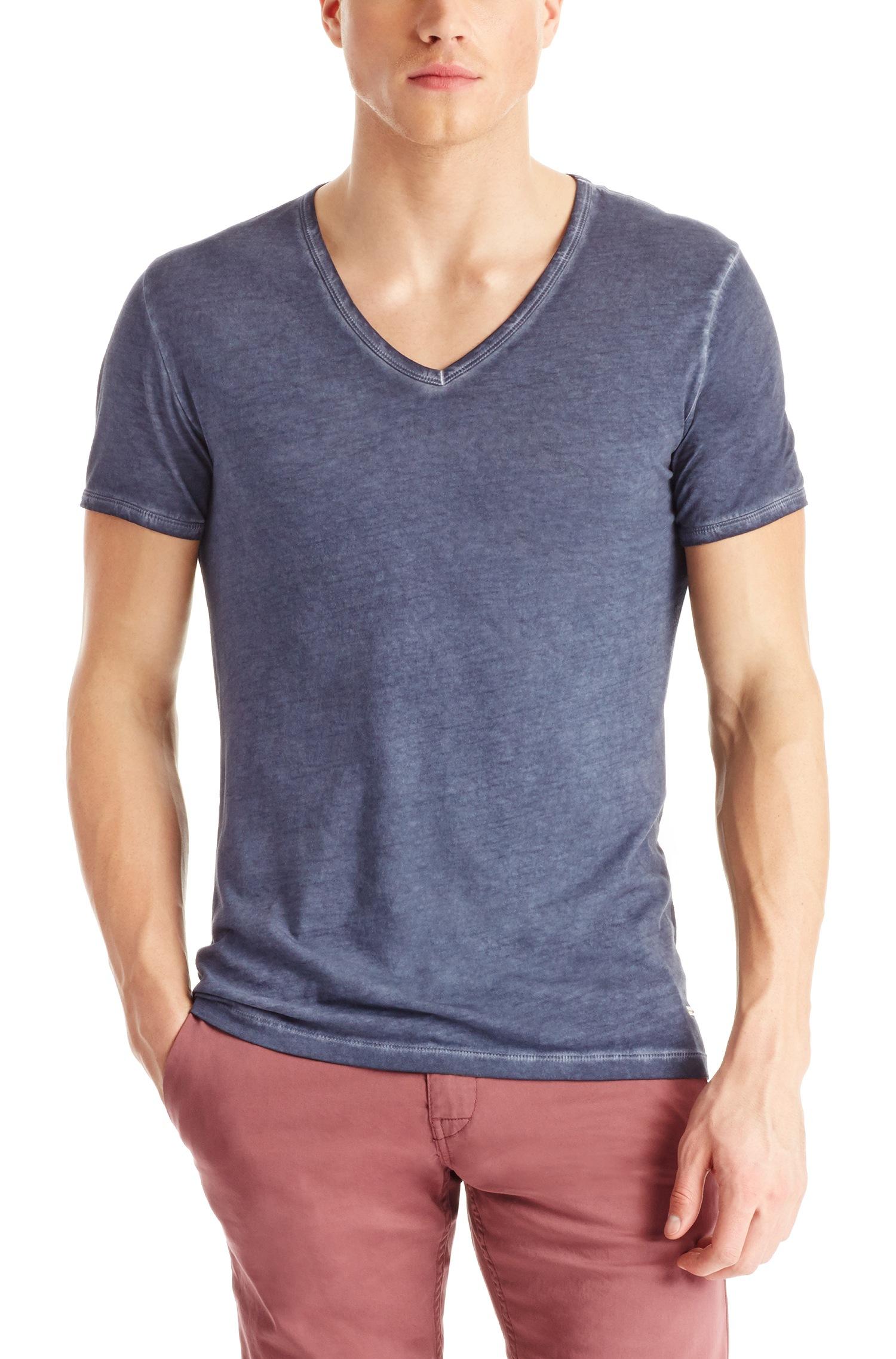 Boss Orange Blue 39 Toulouse 39 Cotton V Neck T Shirt For