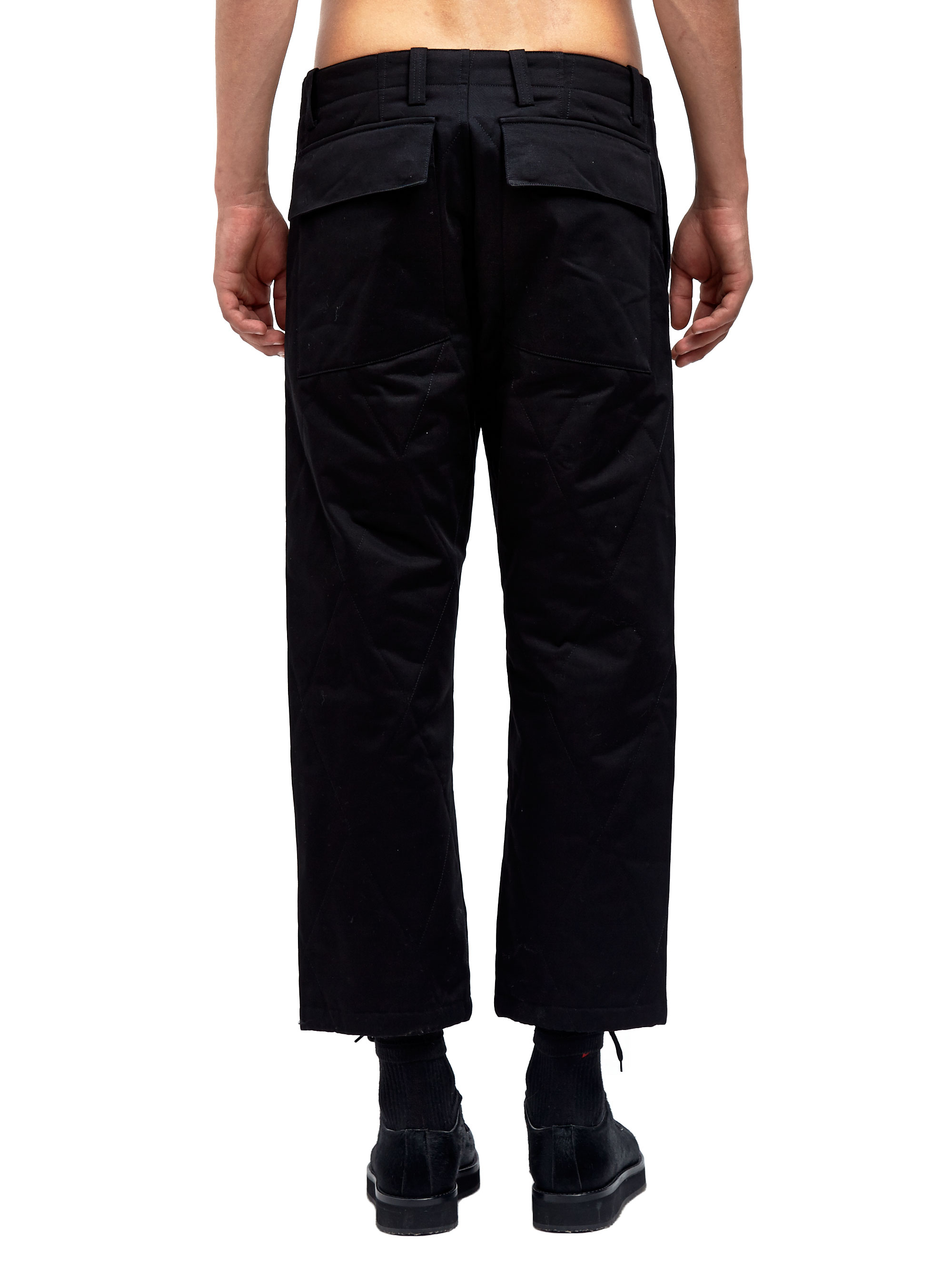 Marni Mens Quilted Cotton Gabardine Pants in Black for Men   Lyst : mens quilted pants - Adamdwight.com