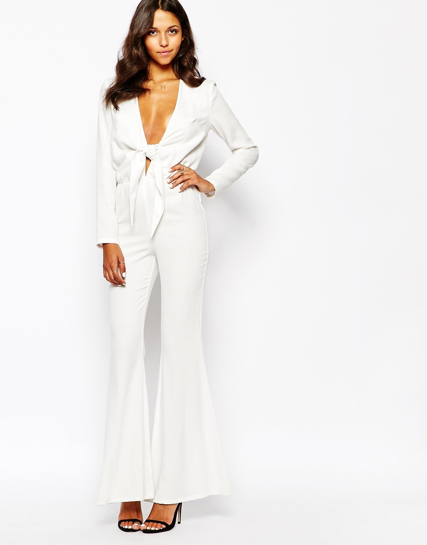 fe489a558985 Stone Cold Fox Stardust Flared Jumpsuit in White - Lyst