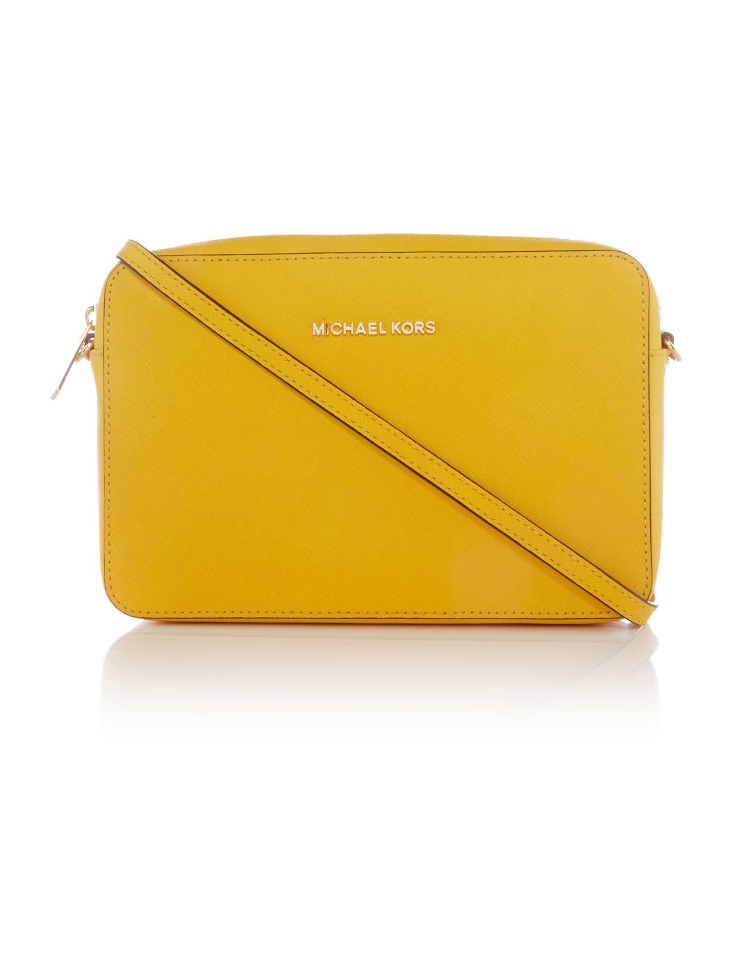 michael kors jetset travel yellow crossbody bag in yellow